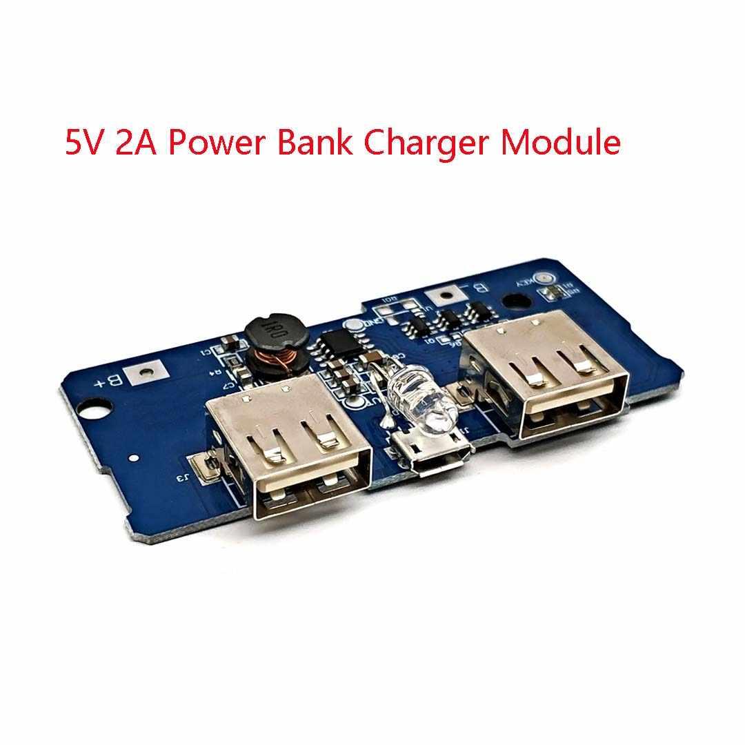 5V 2A Power Bank ładowarka modułu bezprzewodowego ładowania Circuit Board krok w górę zwiększony moduł zasilania 2A podwójne wyjście USB 1A wejście