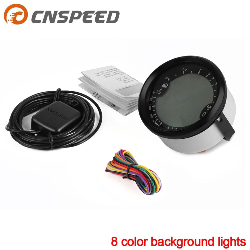 Universal 6 In 1 Multi-functional Gauge GPS Speedometer Tachometer Hour Water Temp Fuel Level Oil Pressure Voltmeter 12V 0-5Bar