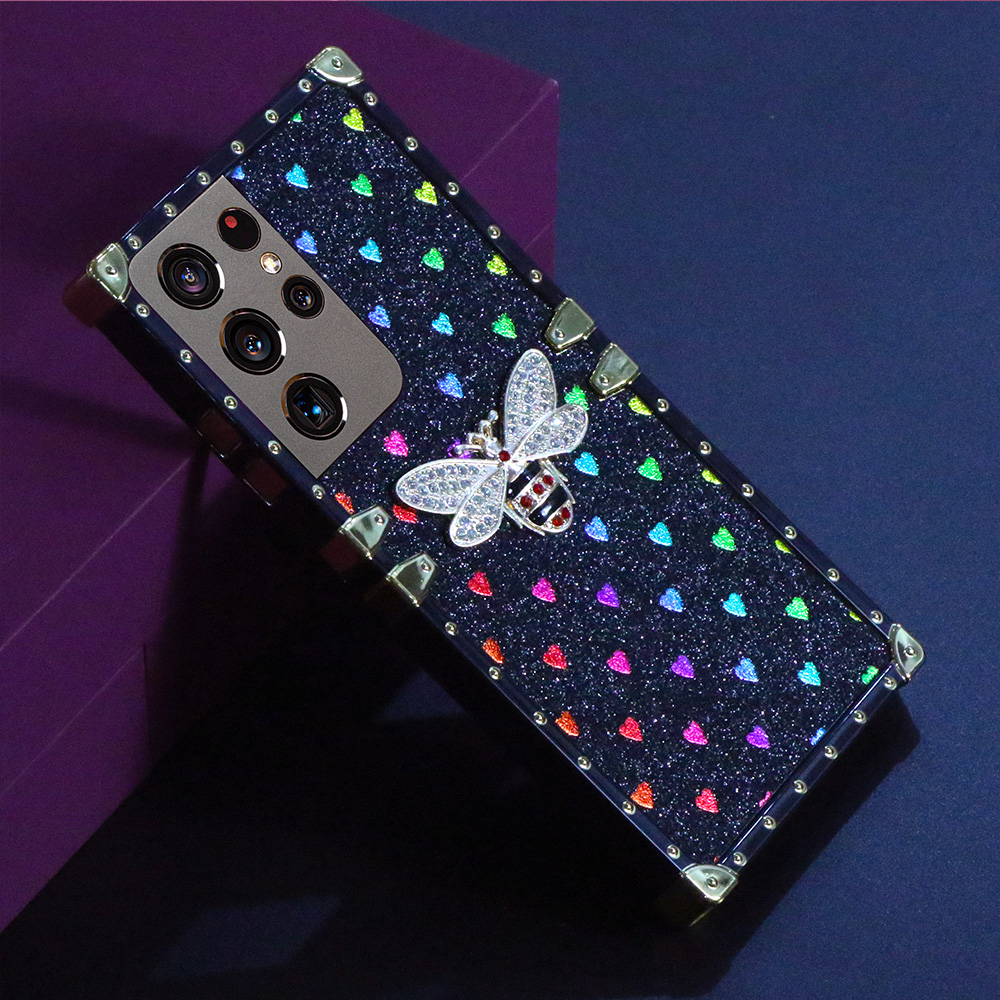 Case For Samsung Galaxy S21 Ultra Phone Cover 5G S20 Fe 20 21S 20S S 21 Plus S21ultra S21plus S20fe Faith Bling Luxury Square