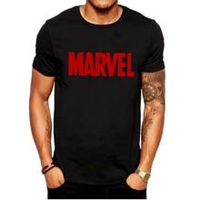 LUSLOS Fashion Men's T Shirt The Avengers Marvel Tshirt Casual Round Neck Male Boys Tops Tees White Black Men T-shirt Streetwear