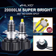 Hlxg 9012 HIR2 Nebel Lichter H11 H1 H8 H9 H7 H4 LED Scheinwerfer hb4 hb3 9005 9006 12V 6000K 72 CSP Turbo Auto Auto Scheinwerfer Lampen