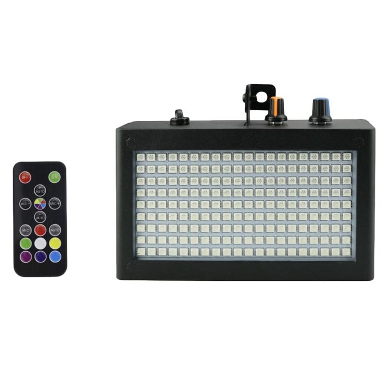 180 Leds Strobe Flash Light Portable 35W Rgb Remote Sound Control Strobe Speed Adjustable For Stage Disco Bar Party Club(Eu Plug