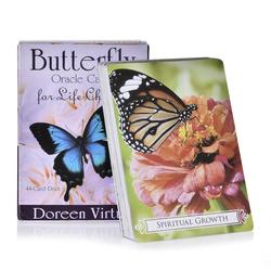 44PCS Butterfly Oracle Cards for Life Changes Occult Divination Book Sets for Beginners Women Girls Board Game Playing Cards