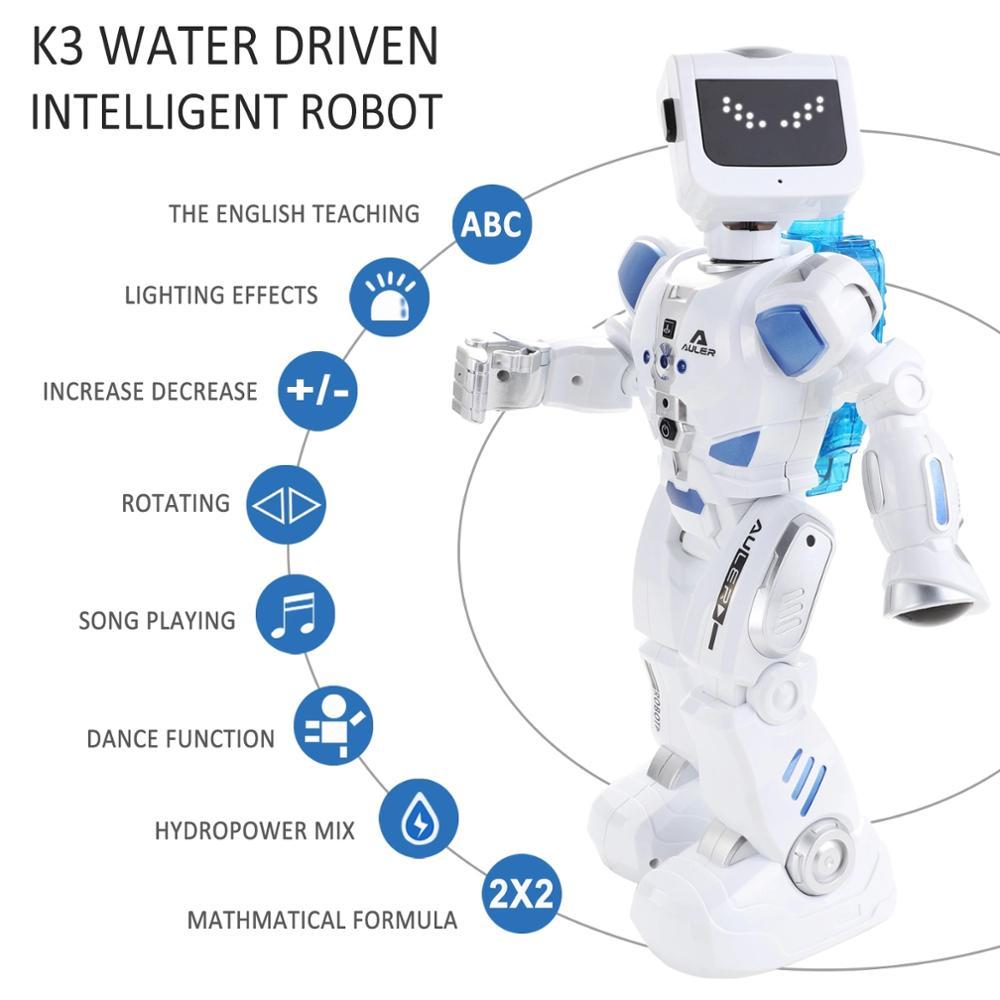 Inteligente robô alfa brinquedo hydroelectric híbrido robô inteligente rc controle de som cantando dança robô brinquedos educativos das crianças - 2