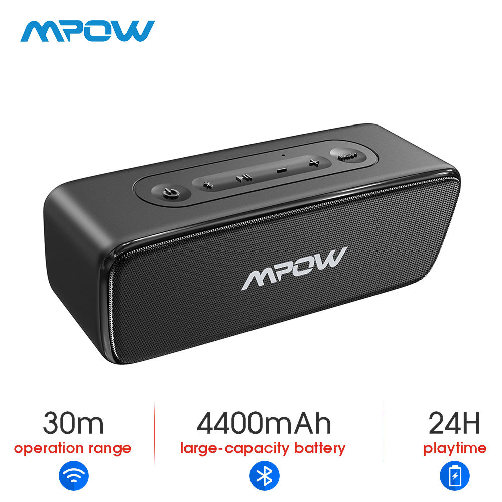 Mpow 12W Soundhot Bluetooth haut-parleur sans fil Portable haut-parleur basse profonde barre de son avec 24H de temps de jeu pour Home cinéma ordinateur PC
