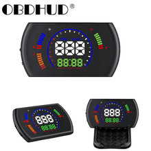 Car S600 HUD OBD2 Head Up Display Digital Speedometer  Projector  RPM Speed Fatigue Driving Security Alarm Driving computer