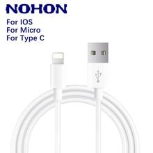 NOHON-Cable USB de datos para iPhone, Cable de carga rápida para teléfono Android tipo c, xiaomi, huawei, Samsung, cargador para iPad