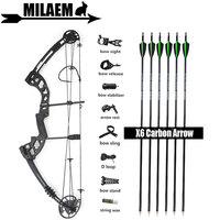 30 55lbs Archery ZJ Compound Bow And Arrow Set With Carbon Arrows Stabilizer Sight IBO310FPS Target Shooting Hunting Accessories