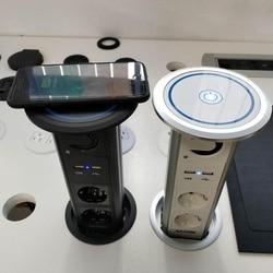 Wasserdicht Motorisierte intelligente lift EU power küche pop up smart buchse mit Bluetooth lautsprecher und top drahtlose lade