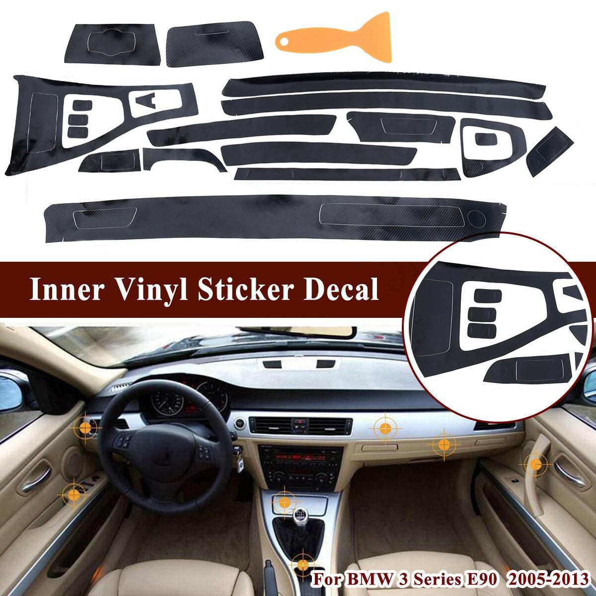 5D Car Sticker For BMW 3 Series E90 2005-2013 5D Interiors Carbon Fiber Trim