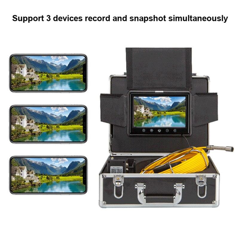 """Image 2 - Syanspan 9 """"Беспроводной Wi Fi 20/50/100 м внутритрубный инспекционный прибор видео Камера, слива канализационных труб промышленный эндоскоп Поддержка Android/IOS-in Камеры видеонаблюдения from Безопасность и защита"""