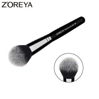 ZOREYA Brand Flawless Face Brush Super High Quality Fiber Hair Black Wooden Handle Powder Blush Bronzer Brushes For Ladies 1