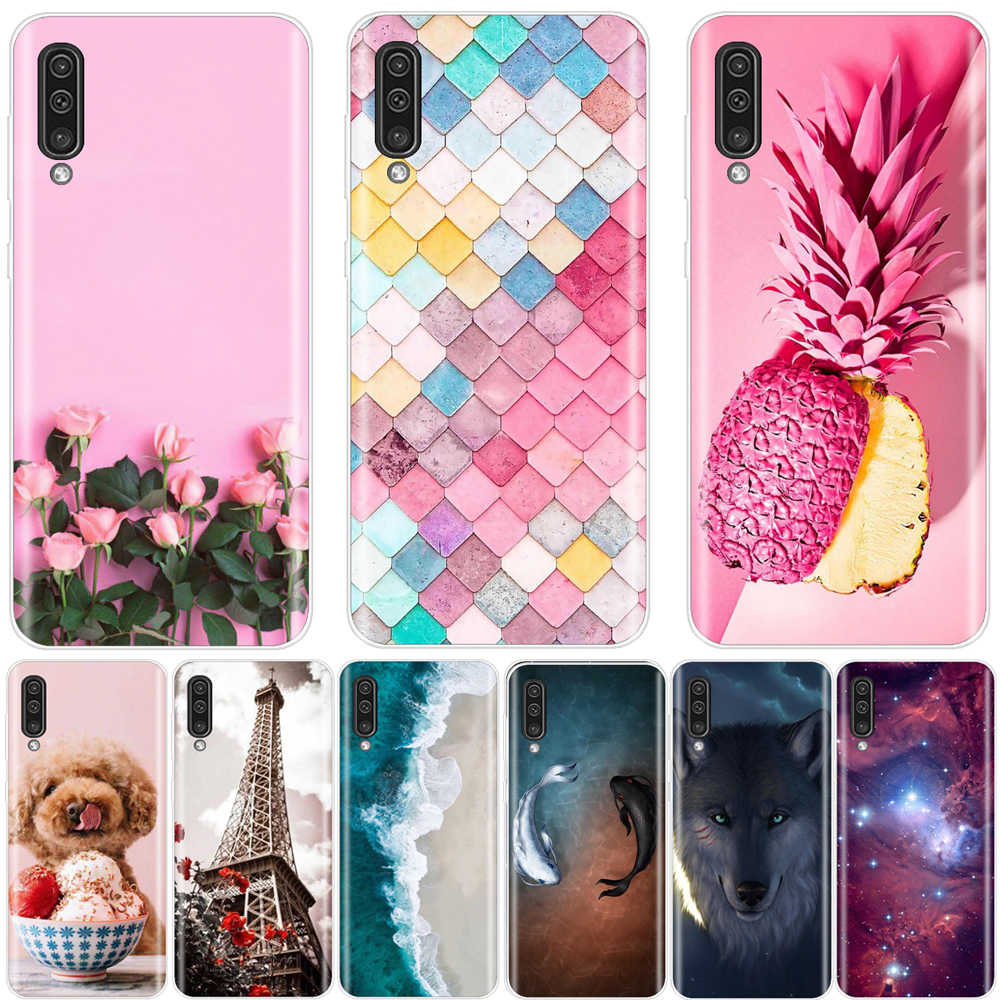 Phone Case for Samsung Galaxy A50 Case Cover For Samsung A50 Case Silicone 3D TPU Back Coque Funda for Samsung Galaxy A50 Cover
