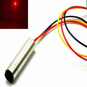 1240 10mW New Focusable 650nm Red Dot Laser Diode Module w/ TTL 0-15KHZ 5V focusable 635nm 5wm 10mw orange red 12x55mm laser diode module with ac adapter