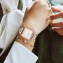Cadisen 2020 Top Luxe Merk Vrouwen Horloge Mode Vierkante Quartz Horloge Elegante Eenvoudige Sfeer Jurk Waterdicht Gift Armband