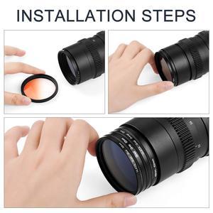 Image 4 - 55mm 레드 오렌지 옐로우 퍼플 블루 그린 니콘 D3400 D3500 D5600 D7500 AF P DX 18 55mm VR 렌즈 용 컬러 필터 키트