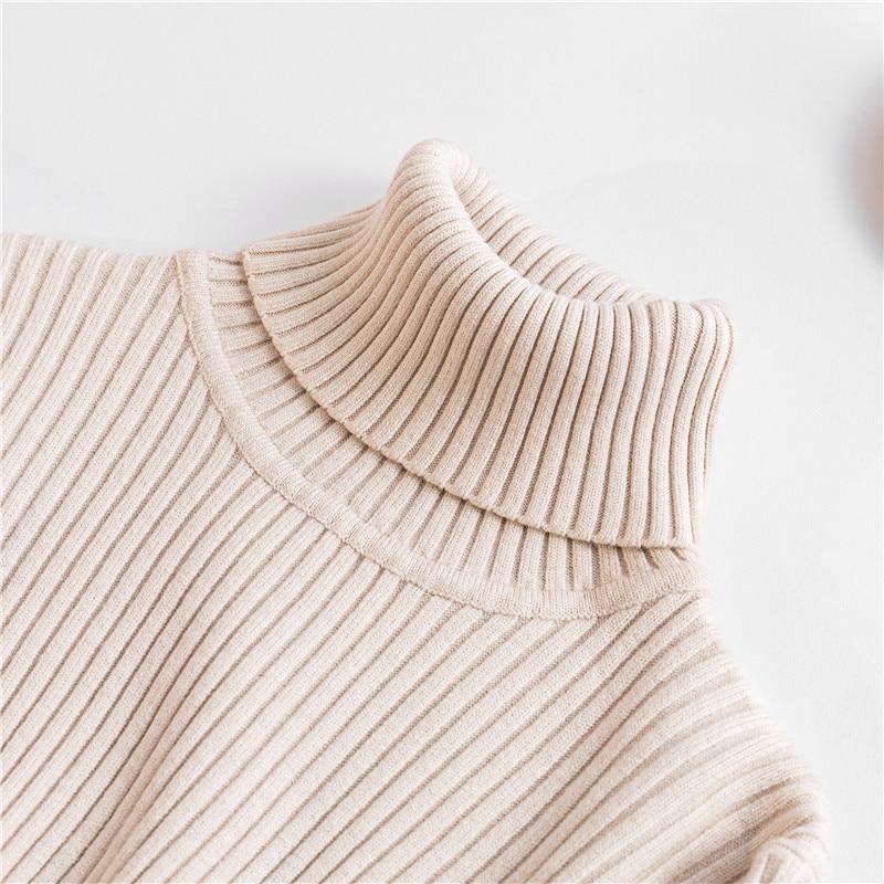 gola alta camisola colete macio polo-pescoço jumper