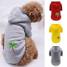 Худи для домашних собак, модное осенне-зимнее плюшевое пальто для щенков, теплая одежда для домашних животных, пальто, толстовка с рисунком Коко, флисовая куртка