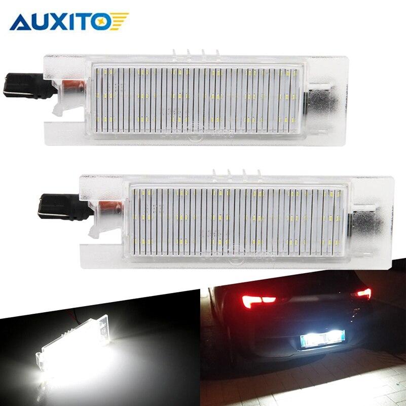 2 pièces CANBUS LED Numéro De Licence Lampes Lumières De Plaque pour Opel Astra H J Corsa C D Insignes Tigra B Twintop Vectra C Zafira B OPC