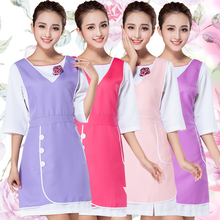 Korean style summer style sleeveless apron overalls beautician manicure shop mother and baby supermarket restaurant waiter apron