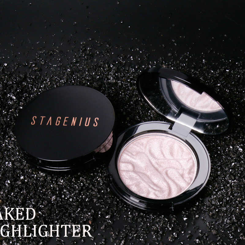 Face highlighter Powder Illuminator Contouring shimmer Powder Face Contour Bronzer สีทองสูงไฟแช็ก