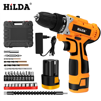 HILDA 16.8V Electric Drill Electric Screwdriver Rechargeable Lithium Battery Cordless Screwdriver Two speed Power Tools|Electric Screwdrivers| |  -