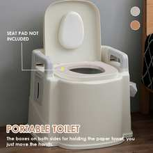 2 Colors Portable Toilet Seat Old Pregnant Woman Home Bath Indoor Potty Commode