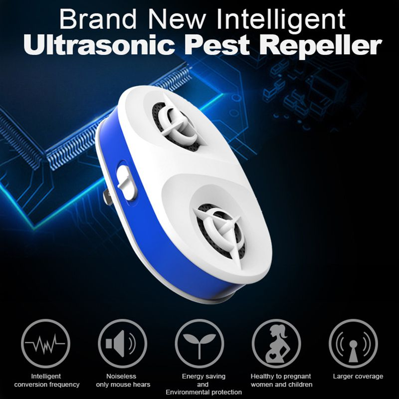 Ultrasonic Pest Repeller Electronic Indoor Pest Repellent For Insects  Mice Ant  Mosquito  Spider  Rodent  Roach Repellent|Repellents| |  - title=