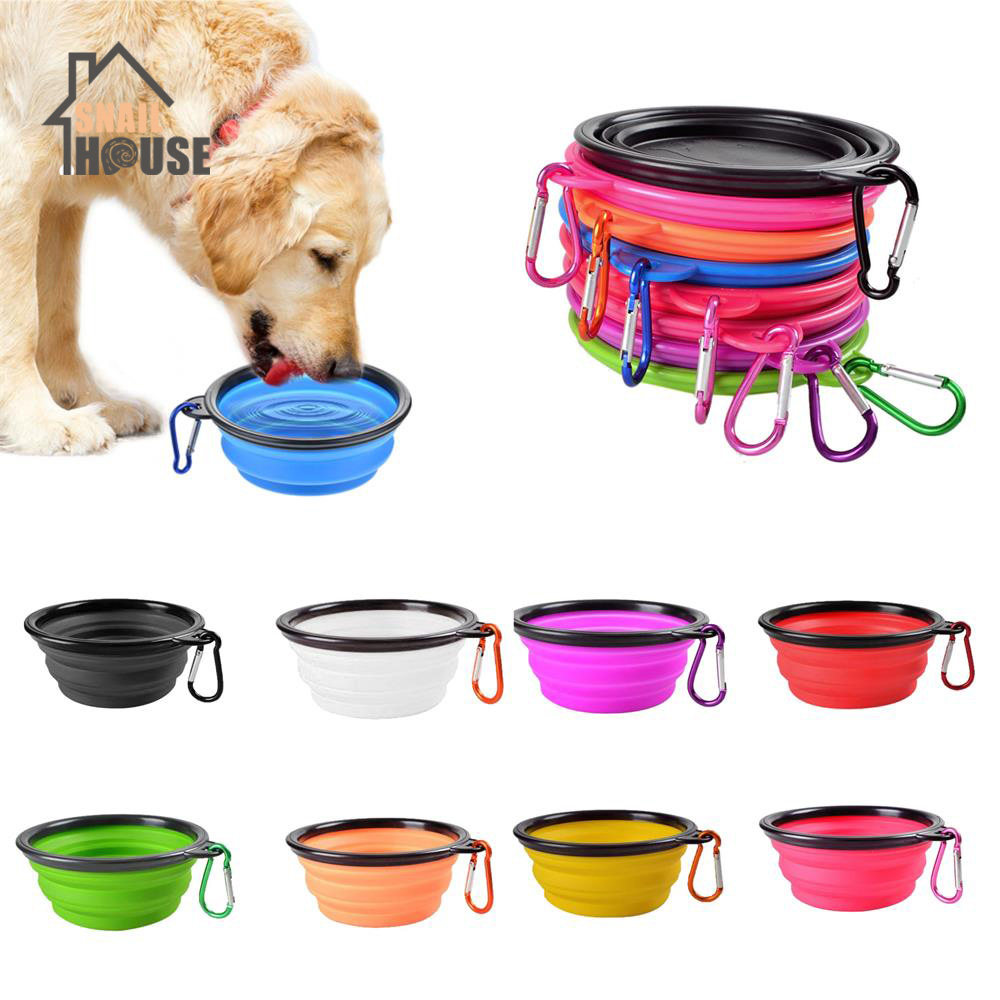 Snailhouse Collapsible Bowl Folding Silicone font b Pet b font Travel Bowls Safe Outdoor Food Water
