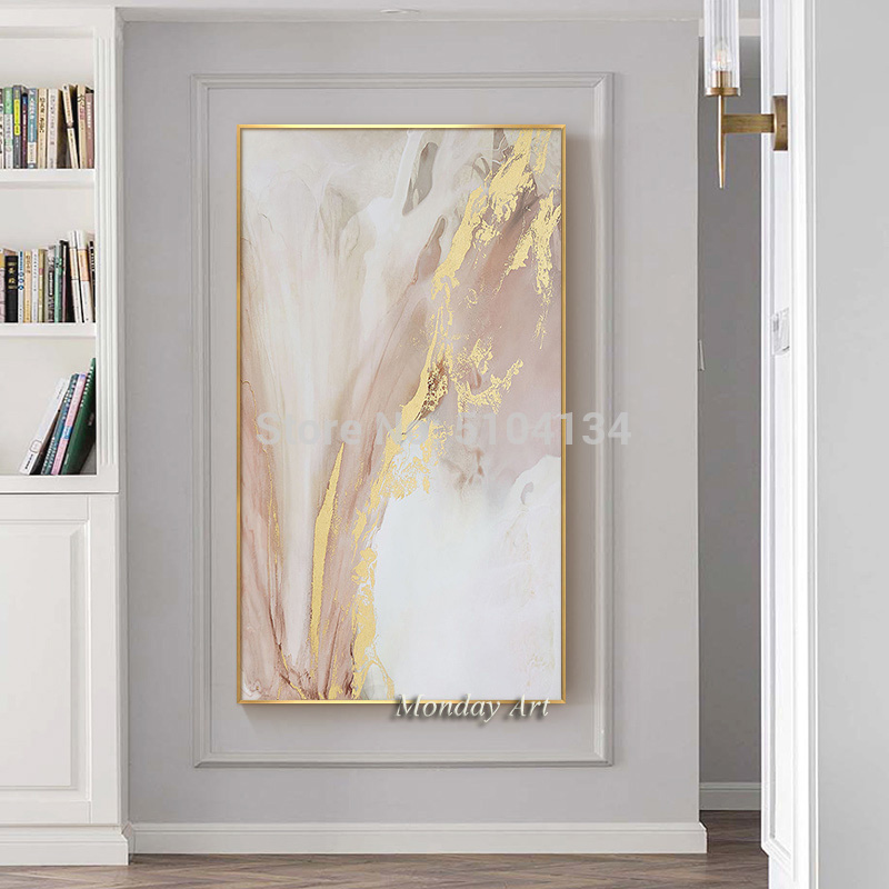 Hand-painted-Abstract-Gold-and-Pink-Color-Oil-Paintings-Modern-Canvas-Painting-Wall-Painting-for-Living (3)