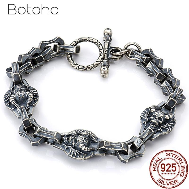 925 Sterling Silver Skeleton Bracelet