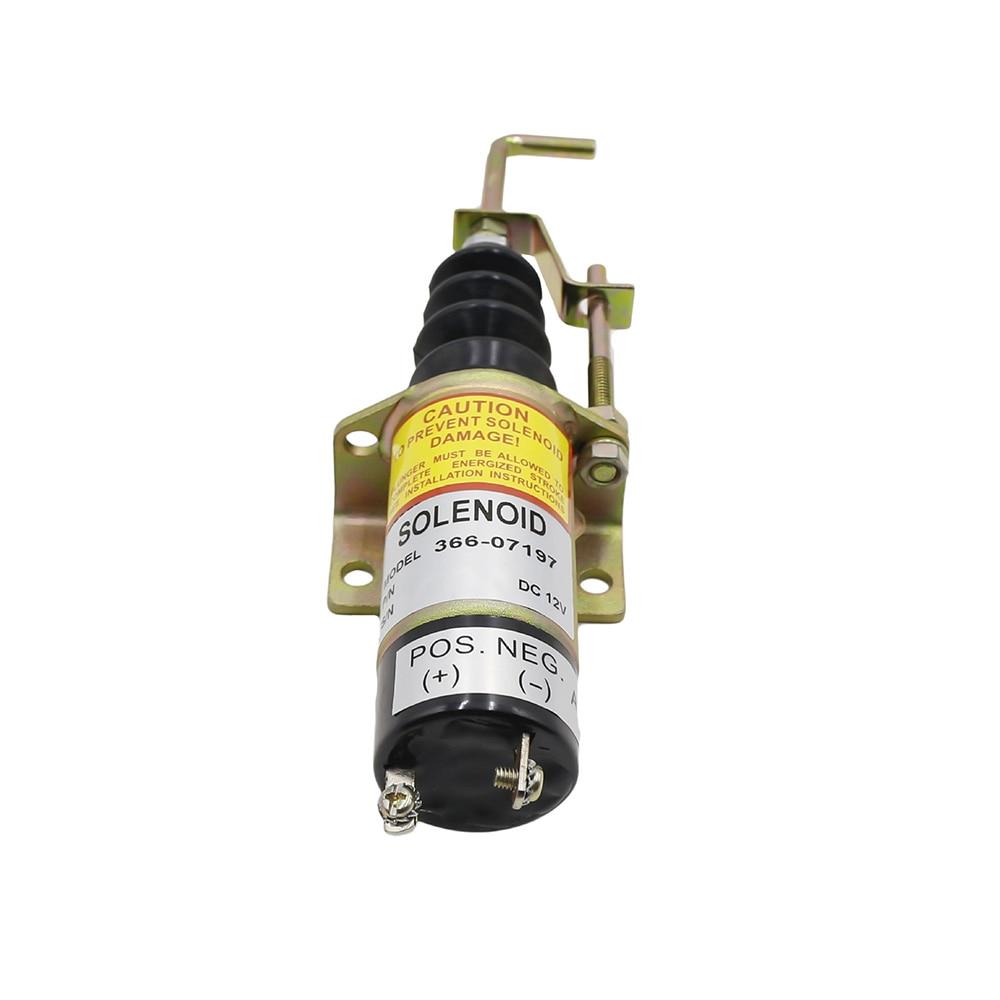 High Quality  Model 1502 Fuel Flameout Shutoff Solenoid Valve 12V For Lister Petter Diesel Engine  366-07197
