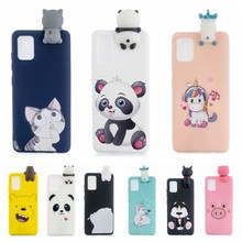 A30S A50 Case on for etui Samsung A10 A20 A30 A40 A50 A70 Kawaii Unicorn Panda 3D Cover for Galaxy A10S A20S A30S A50S A20E Case(China)