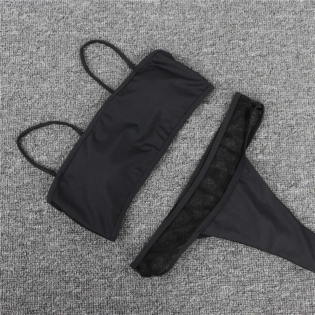 Wanita Bikini Set Padat Empuk Push Up Pakaian Renang Baju Renang Biquinis Feminino Thong Bikini 2019 Mujer Pakaian Renang Plavky #4