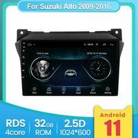 Navigazione GPS per auto per Suzuki Alto 2009 2010 2011 2012 2013 2014 2015 2016 supporto BT musica e telefono 2G 32G Carplay WiFi SWC