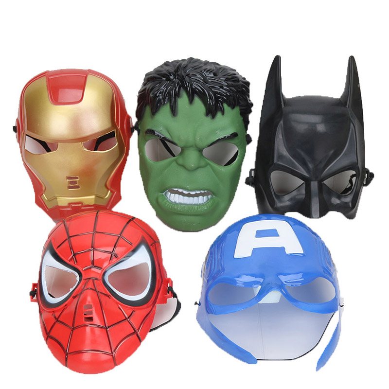 5pcs-set-font-b-marvel-b-font-the-avengers-endgame-mask-kids-spiderman-iron-man-hulk-america-captain-party-supplies-children-cosplay