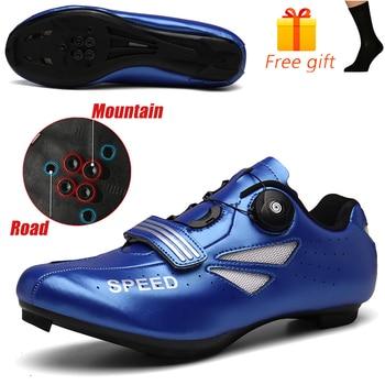Carbon Fiber Men Cycling Shoe Breathable Triathlon Mountain Bike Shoes Man Sport Road Racing Snaeker Spin Buckle 20