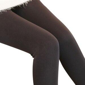 Image 4 - 2020 moda feminina calças de inverno leggings plus cashmere sexy calças quentes super elástico falso veludo inverno grosso calças finas