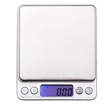 500G/0.01G Digital Kitchen Scales,Stainless Steel Pocket Scales,Usb Food Scales,Jewelry Scales,With 2 Removable Trays(China)