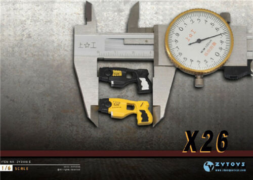 1//6 Scale ZYTOYS ZY2009E Yellow Pistol Weapon Gun Model Toy Gifts F 12/'/' Figure