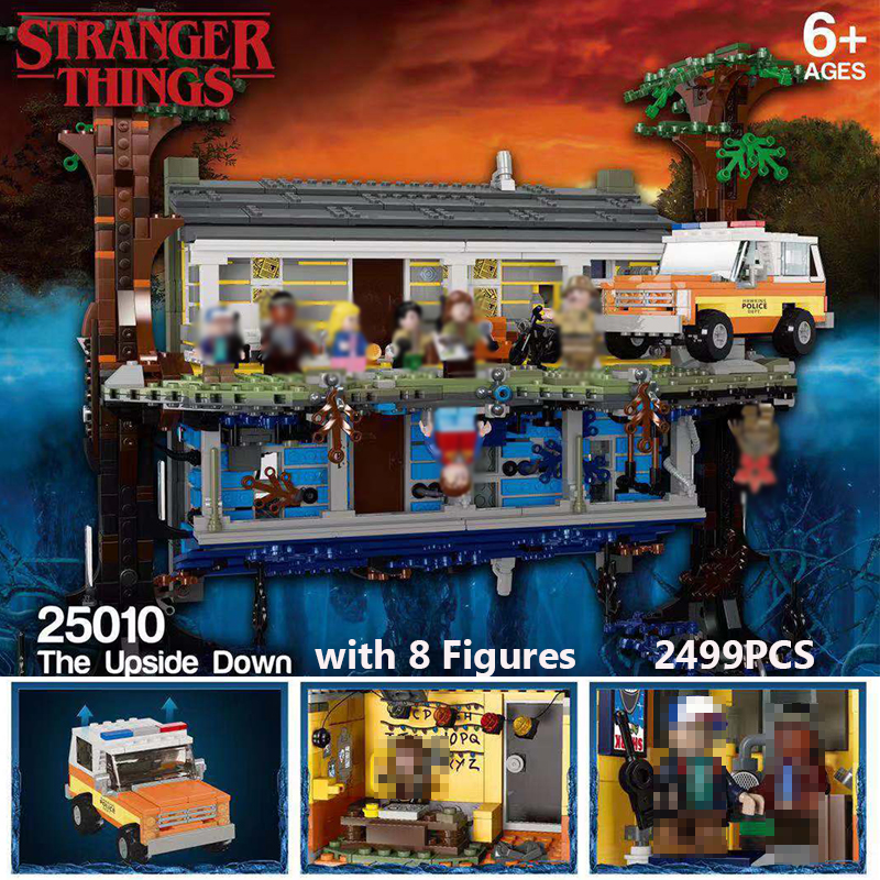 2499pcs 75810 Legoinglys Stranger Things Turning The World Upside Down Building Blocks Bricks Set Children Toys  Christmas Toys
