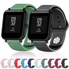 Miękki pasek silikonowy dla Xiaomi Huami Amazfit Bip BIT Lite młodzieży inteligentny zegarek bransoletka na rękę dla Amazfit Bip Watchband 20mm pasek tanie tanio 22 cm Od zegarków Nowy bez tagów For Samsung Galaxy active 2 Metal Silcione watch strap For Amazfit Bip For Amazfit GTS