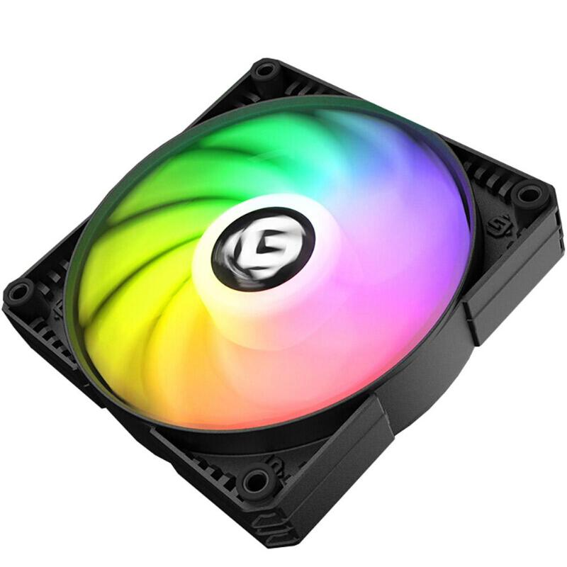 120mm/<font><b>140mm</b></font> <font><b>12V</b></font> PC Computer Case Dual LED Ring Multicolor Cooling <font><b>Fan</b></font> DRGB 4Pin PWM Chassis Remote Control Heatsink Cooler image