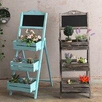 Деревянная подставка под растения, уличная, крытая, лестница, полка с доской, садовая подставка, плантатор, Цветочная стойка, украшение балк...