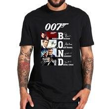 James 007 tshirt filme bond t camisa 3d impressão moda casual manga curta verão topos t homme alta qualidade camisetas oversize