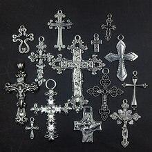 Venta al por mayor Cruz encantos colgantes hallazgos de la joyería de Diy accesorios más estilos pueden elegido 14 unids/lote ZAS1021