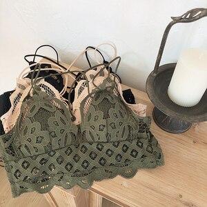 Image 2 - เพียง Bra,ดอกไม้ Hollow OUT Brassiere เซ็กซี่ลวดผู้หญิงเซ็กซี่ bralette ชุดชั้นในสบายชุดชั้นใน pullover Bra