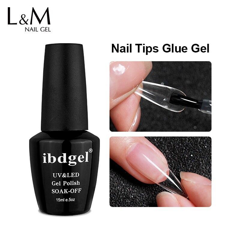Ibdgel гель для ногтей 15 мл Многофункциональный Легко широко используемый гель-клей для ногтей основа для покрытия Алмазная палочка клей