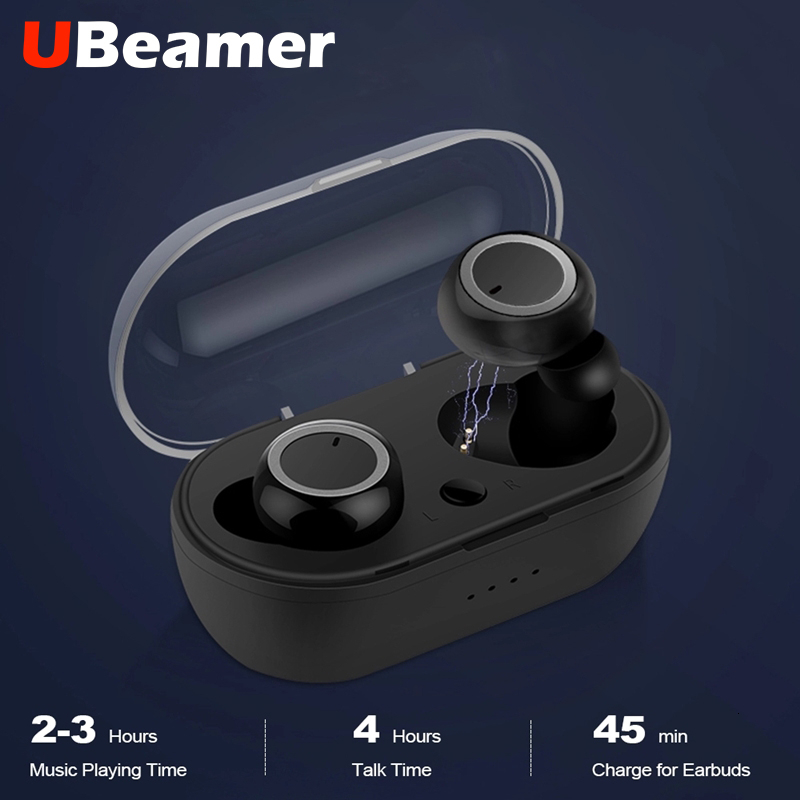 Ubeamer <font><b>TWS</b></font> <font><b>5</b></font>.0 Bluetooth Headphone Touch Wireless Earphone For Phone,Noise Cancelling Gaming Headset image