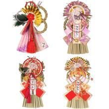 Японский стиль, соломенная Новогодняя настенная подвеска, соломенная изгоняющая злой орнамент для украшения двери ресторана